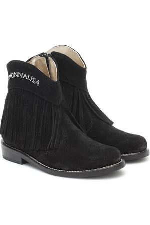 MONNALISA Embellished suede ankle boots