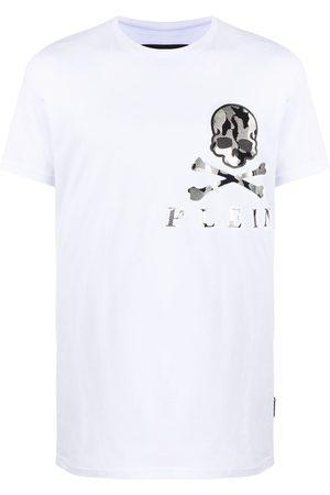 Philipp Plein Hombre Playeras - Camouflage skull-print cotton T-shirt