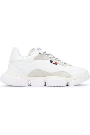 Moncler Suede panelled lace-up sneakers