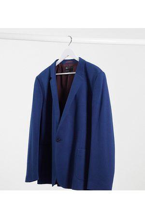ASOS Plus super skinny jersey blazer in navy
