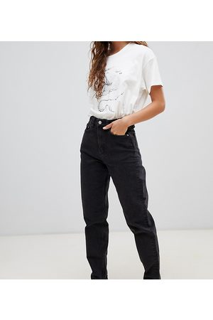 Weekday Lash organic cotton high waist mom jean in black