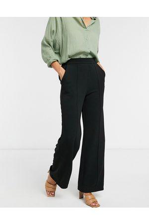 VERO MODA Wide leg trousers in black