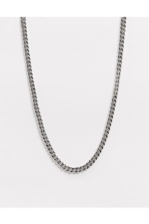 ASOS Short slim 4mm neckchain in silver tone