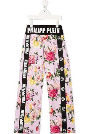 Philipp Plein Pantalones holgados con estampado floral