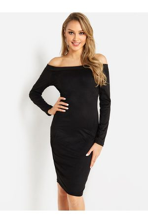 YOINS Off The Shoulder Long Sleeves Bodycon Dress
