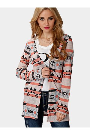 YOINS Random Print Pattern Hooded Cardigan