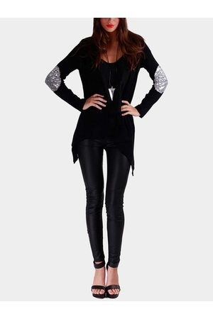YOINS Open Front Thin Cardigan with Metallic Glitzy Details