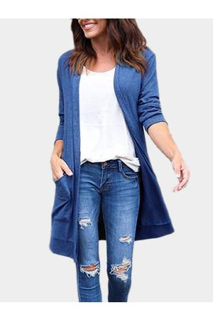 YOINS Two Large Pockets Long Sleeves Causal Cardigan