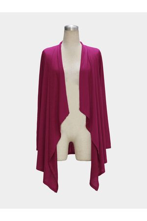 YOINS Rose Long Sleeve Waterfall Cardigan
