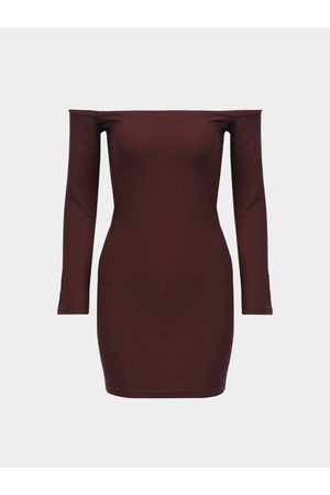 YOINS Bodycon Off Shoulder Long Sleeves Mini Dress