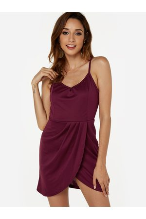 YOINS Backless V-neck Sleeveless Sexy Spaghetti Strap Dress