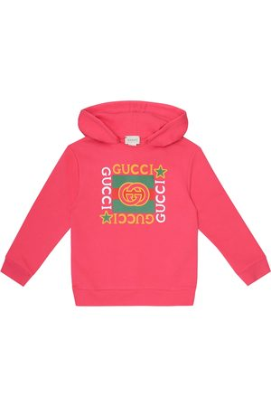Gucci Logo cotton jersey hoodie
