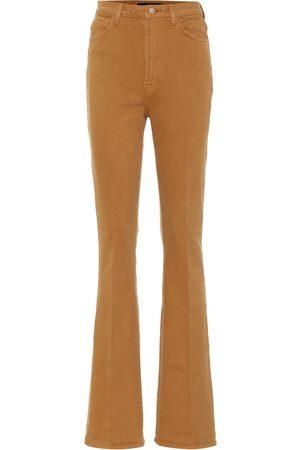 J Brand Runway high-rise stretch-cotton bootcut jeans
