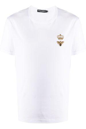 Dolce & Gabbana Playera con bordado de abeja y corona