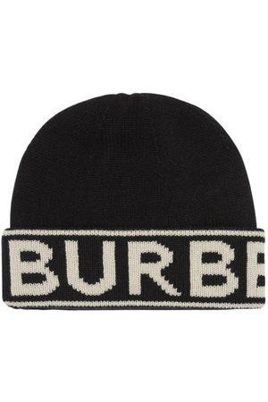 Burberry Gorro Beanie De Punto De Cashmere Con Logo