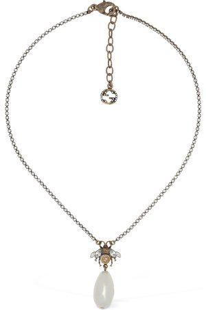 Gucci Collar Con Colgante De Cristal