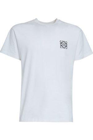 Loewe Hombre Playeras - Camiseta De Algodón Jersey Con Logo Bordado