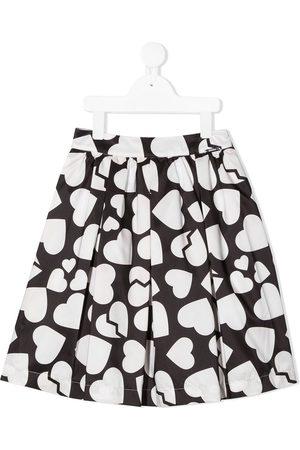 Msgm Heart-print A-line skirt
