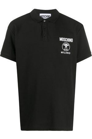 Moschino Double Question Mark short-sleeve polo shirt