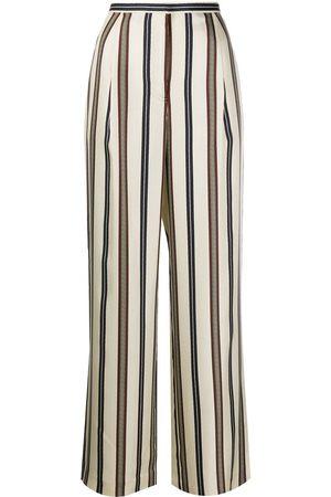 Tory Burch Striped silk trousers
