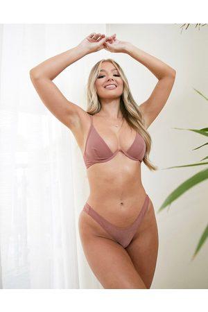 ASOS Mujer Con varilla - Tiggy smoothing underwire bra in mesh in mink
