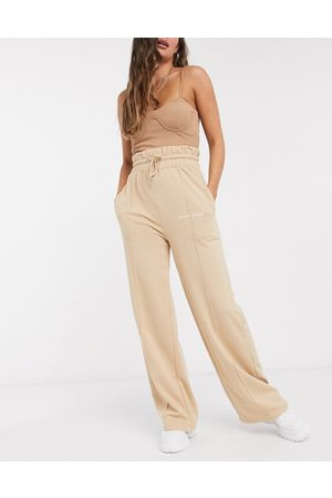 Missguided Flared joggers in camel
