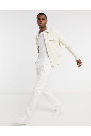 ASOS Regular denim jacket in ecru
