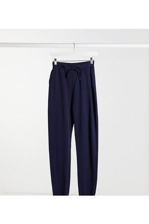 ASOS ASOS DESIGN Tall basic jogger with tie in organic cotton in navy