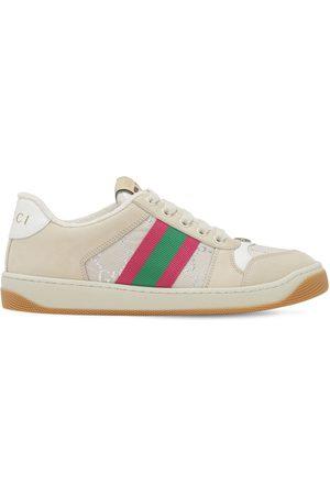 """Gucci Sneakers """"screener"""" De Piel Y Tejido Jacquard 10mm"""