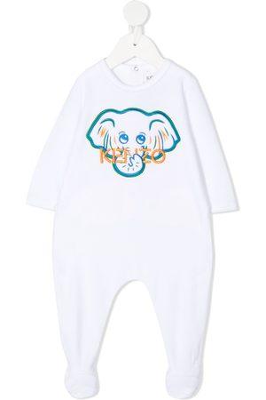 Kenzo Kids Elephant-embroidered babygrow