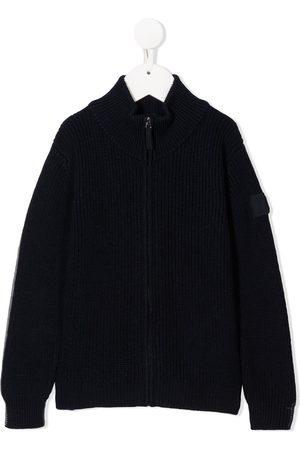 Il gufo Reversible zip-up knitred jacket