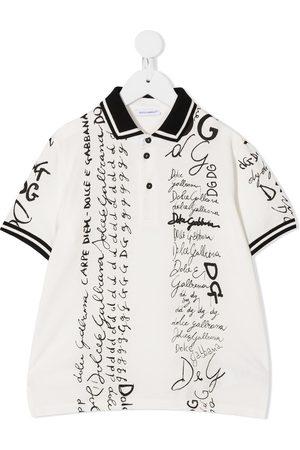 Dolce & Gabbana Polo con estampado de letras