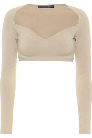 Zeynep Arcay Stretch-knit crop top