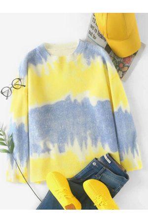 Zaful Tie Dye Oversized Sweater