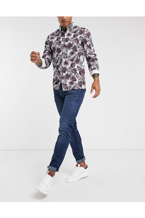 Selected Hombre Skinny - Jeans in slim fit organic cotton mid wash