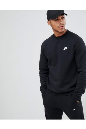 Nike Club crew neck sweat in black