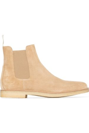 COMMON PROJECTS Neutral suede Chelsea boots