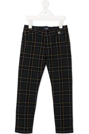 Il gufo Check slim-fit trousers
