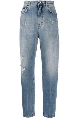 Dolce & Gabbana Boyfriend jeans con efecto envejecido