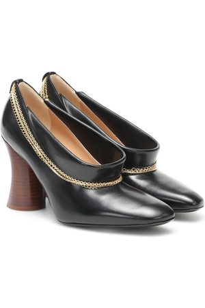 PETAR PETROV Sayra chain-trimmed leather pumps