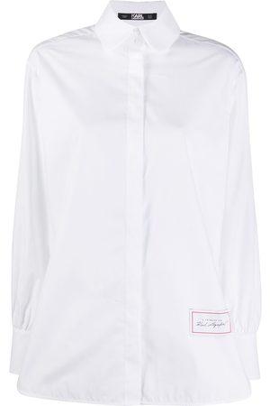 Karl Lagerfeld Camisa de popelina manga larga