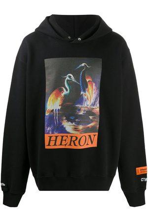 Heron Preston Sudadera con capucha estampada