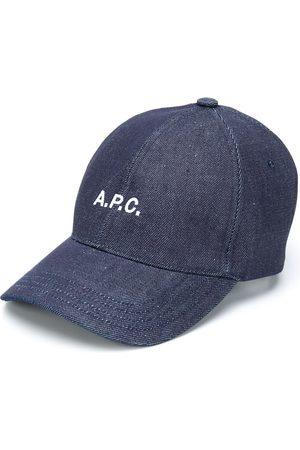 A.P.C Gorra de mezclilla con logo bordado