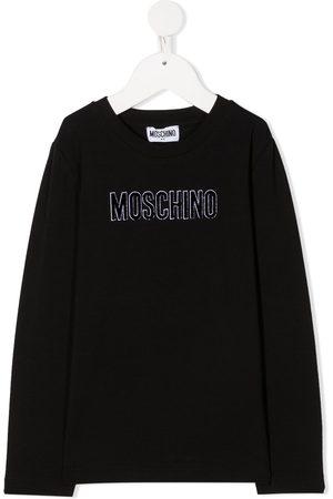 Moschino Top con logo de manga larga