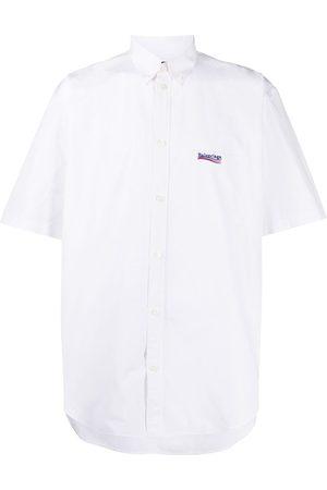 Balenciaga Camisa manga corta con logo bordado