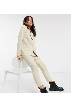 Reclaimed Vintage Inspired tailored trouser in stone