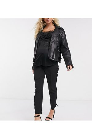 ASOS ASOS DESIGN Maternity mix & match tailored cigarette suit trousers with over bump band