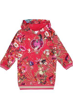Camilla Printed cotton hoodie dress