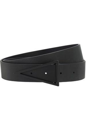 Bottega Veneta Cinturón De Piel Con Hebilla Triangular 3cm
