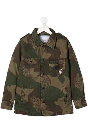 Philipp Plein De mezclilla - Teddy Bear military jacket